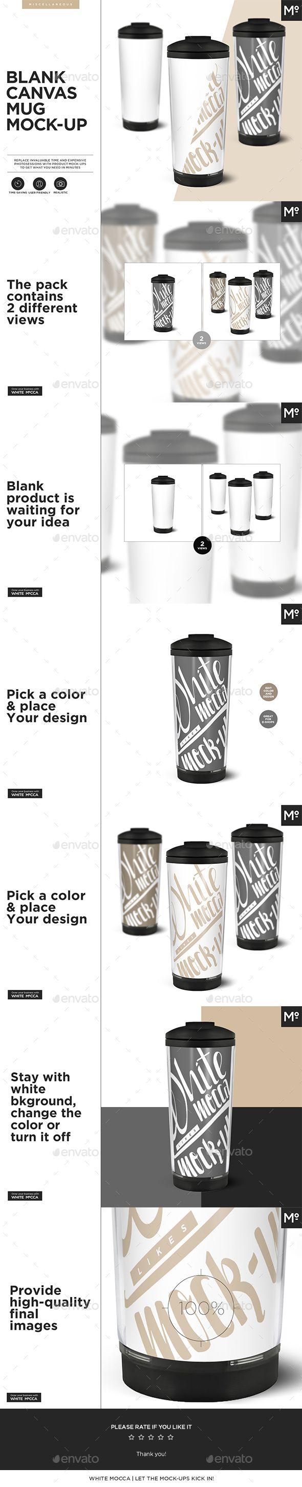 Blank Canvas Mug #Mock-up - Food and Drink Packaging