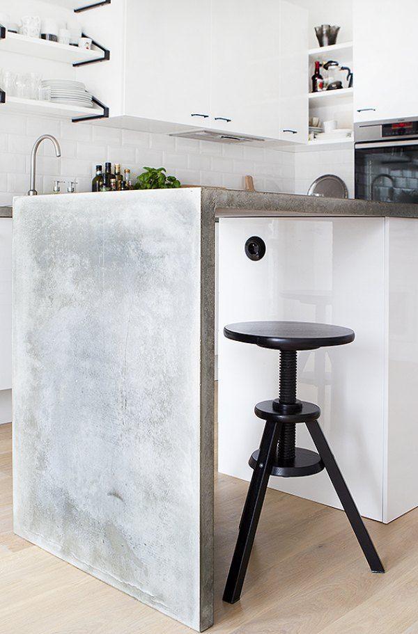 Kuchenny blat z betonu.