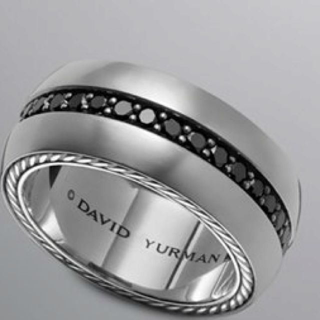 Mens wedding band, David Yurman, $1550.00 *FI liked this one. #MensWeddingRing #MensWeddingBand #MansRing