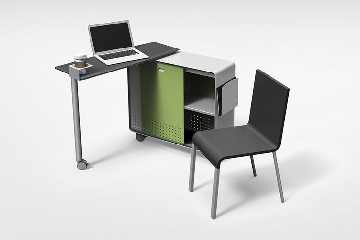 Axcess Mobile Desk fulfills the needs of the nomadic user in any environment that is open and collaborative, bridging the gap between the cubicle and pedestal table.