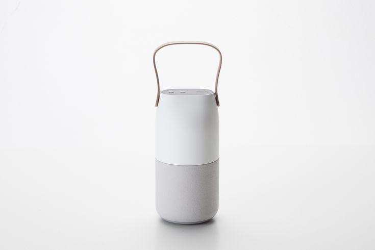 'Sound Bottle' for using with mobile phone. this unique speaker & lighting made by living product looking not like electric devices.