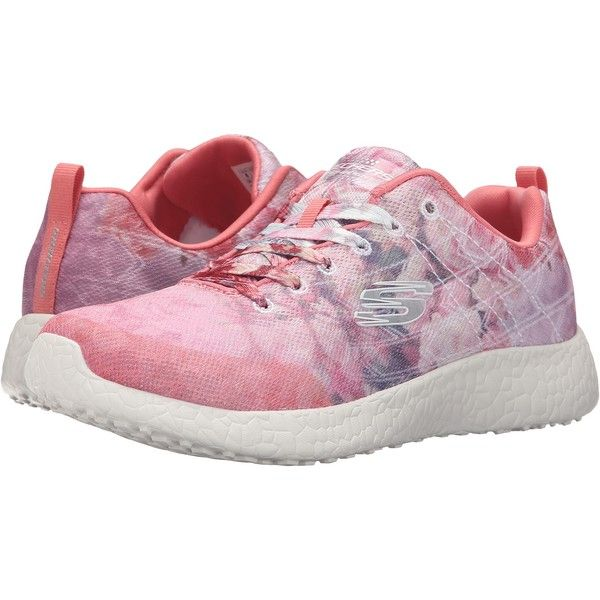 SKECHERS Burst (Light Pink) Women's  Shoes ($42) ❤ liked on Polyvore featuring shoes, athletic shoes, pink, grip shoes, skechers footwear, fleece-lined shoes, breathable shoes and pink athletic shoes