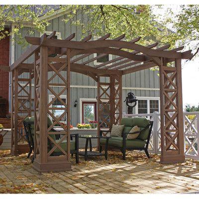 Yardistry Arched Roof 12 Ft. W x 14 Ft. D Cedar Pergola Kit & Reviews | Wayfair
