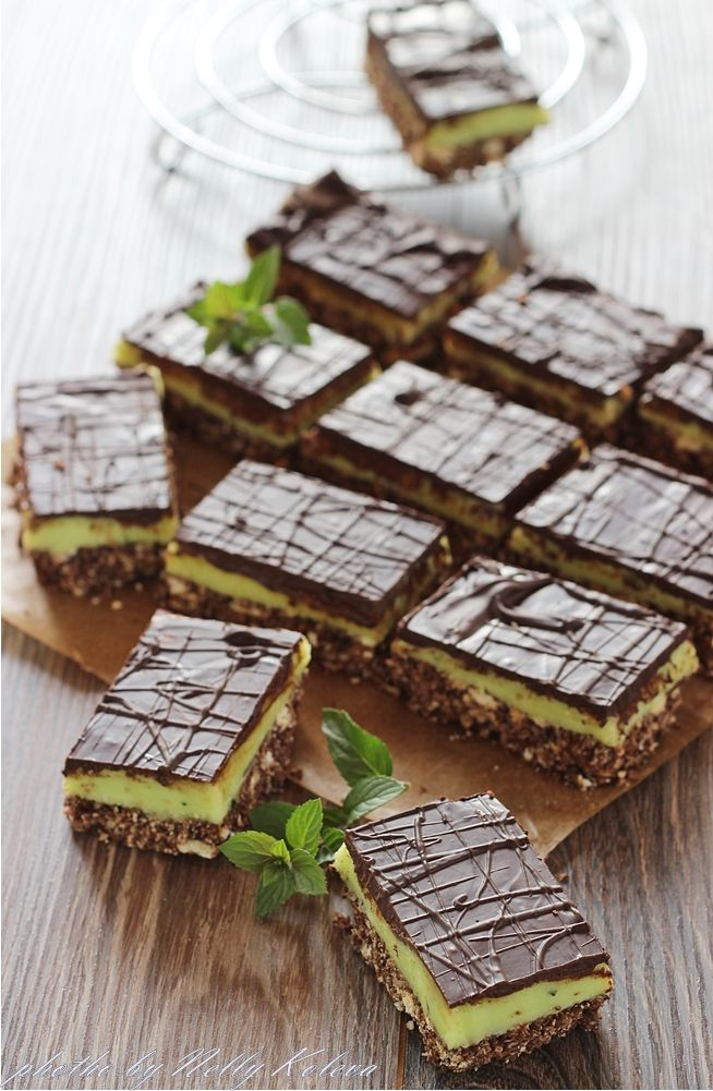 Chocolate Mint Nanaimo Bars from Food for the soul: