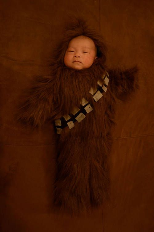 Baby Chewbacca? Yes please. I will definitely do this to my kids ... I mean for, I will do this *for* my kids someday.