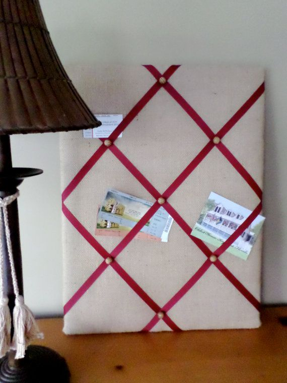 Ribbon Bulletin Board by WestPalmDesigns on Etsy, $34.00
