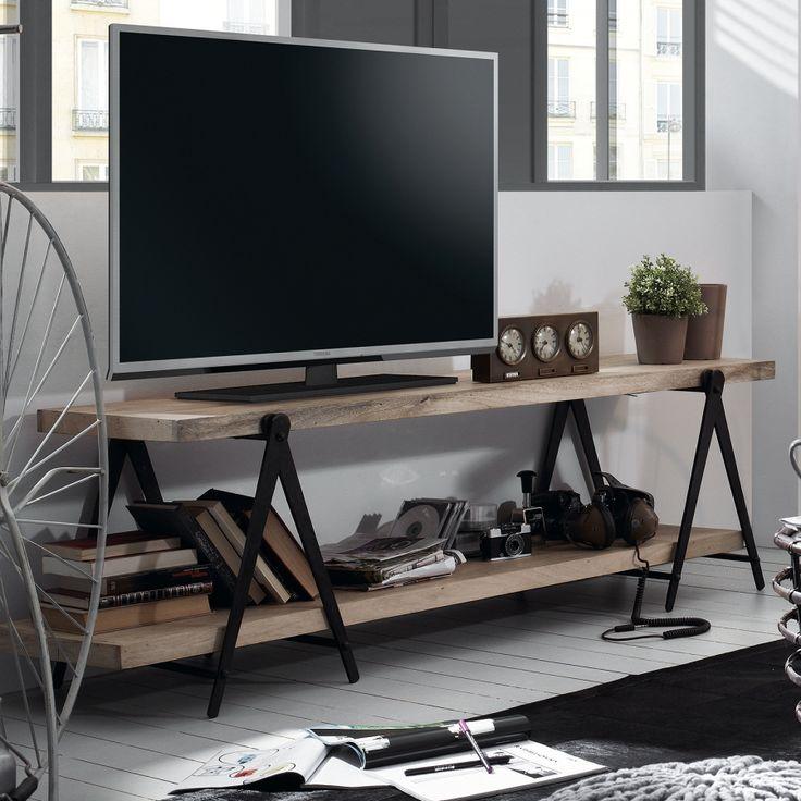 TV-Lowboard Linton - Mango massiv