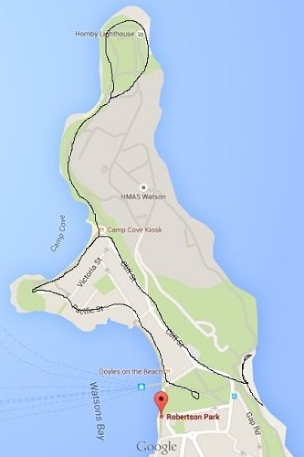 Watsons Bay walk map
