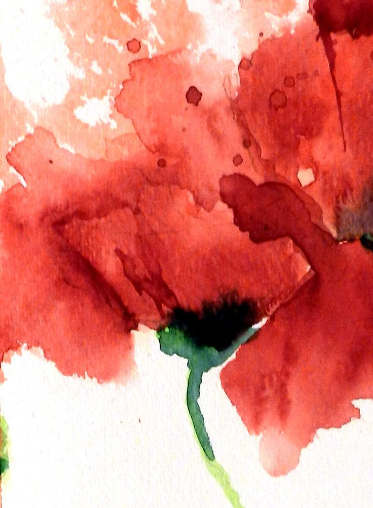 Red Poppies – 11×15 Original Watercolor Painting – Aquarelllmalerei