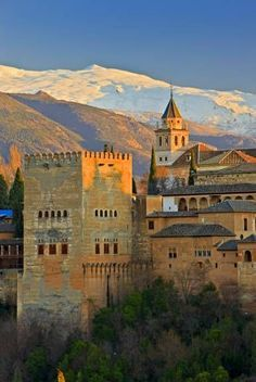 alhambra in grenada spain by hicker photography stock