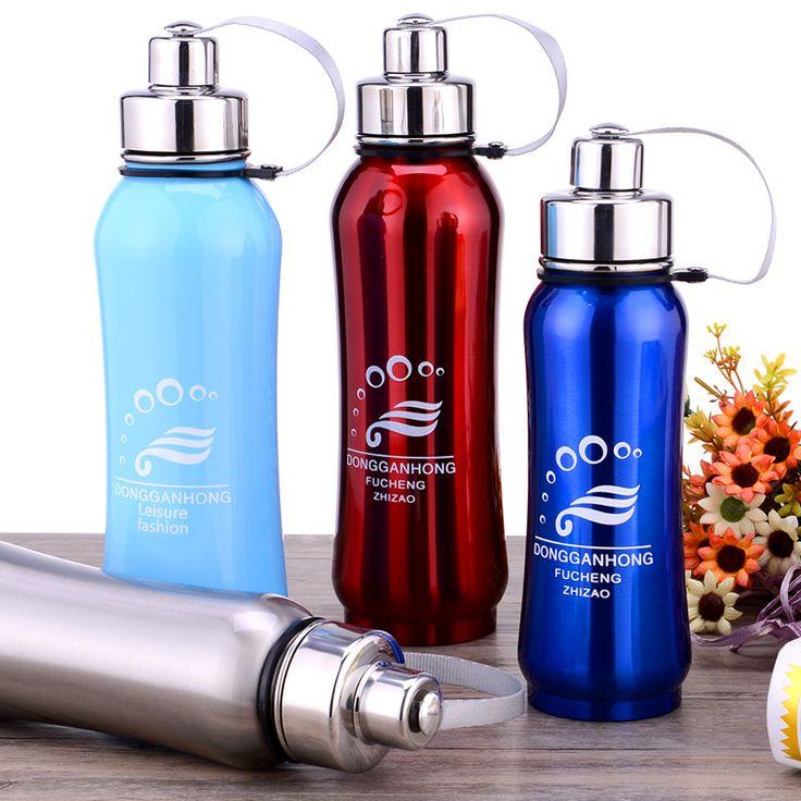 Garrafinha Termica Fishing Clubs Fishing Mug 600ml Brushed Little Mouth Sports Water Bottle Mug Cup Flask for Outdoor Travel