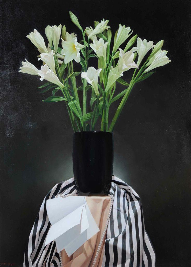 Azucenas. Acrílico sobre lienzo. 110 x 80 cm.  2011