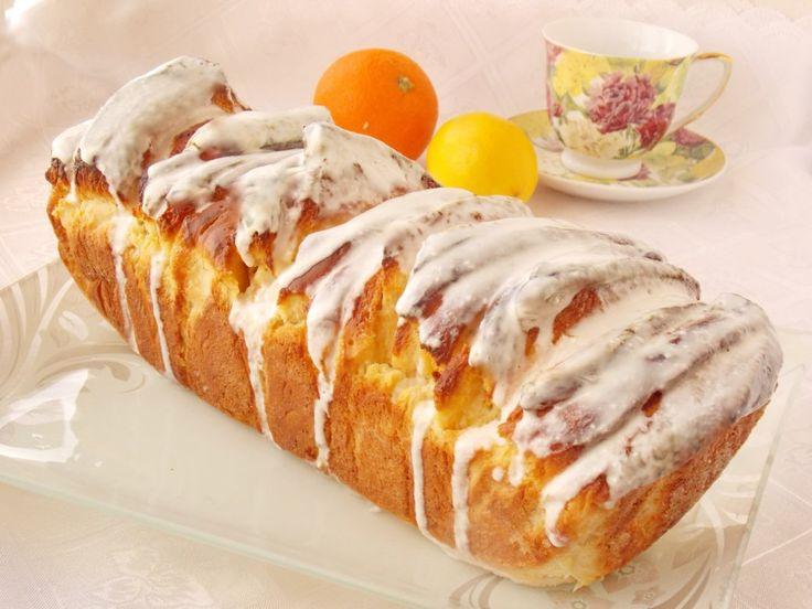 Цитрусовый хлеб со сливочно-лимонной глазурью. Пошаговый рецепт с фото  - Ботаничка.ru