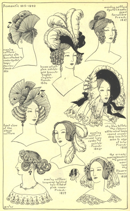 Romantic hats and head dresses