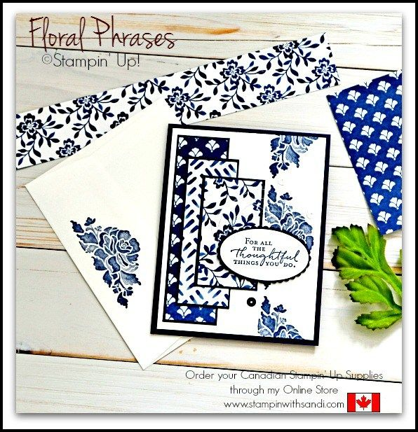 Stampin Up Floral Phrases card by Sandi MacIver Canadian Stampin Up Demonstrator