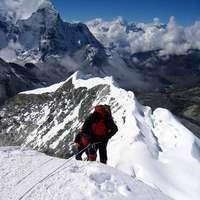 Summit of Island Peak, 6192 m above sea level.  www.himalayanwonders.com