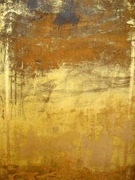 This goldleaf finish by Elise Valdorcia is a composition in its own right...
