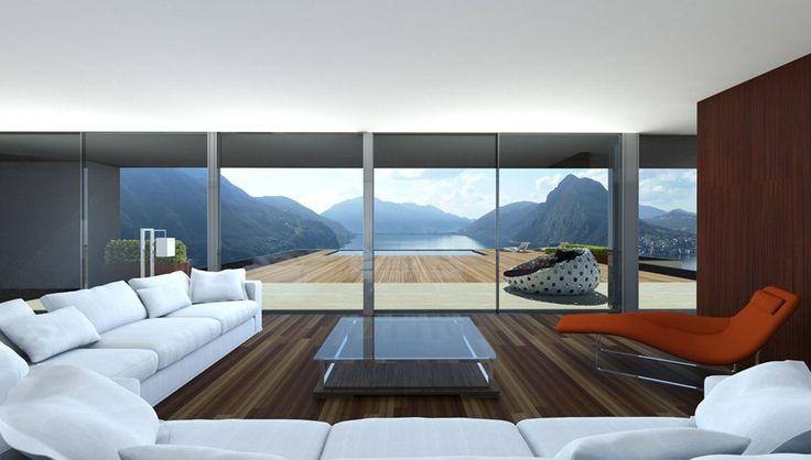 Zeitgenössische Architektur an Superlage: Letzte von 5 Villas - Ruvigliana, Schweiz - Wetag Consulting