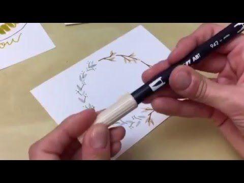 #letterattack Lettering Lessons - Weihnachtliche Ornamente mit Brush Pens - YouTube