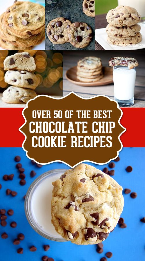 The Best Chocolate Chip Cookie Recipes.  This is such a great collection of recipes.  Pin this one so you have it for later!
