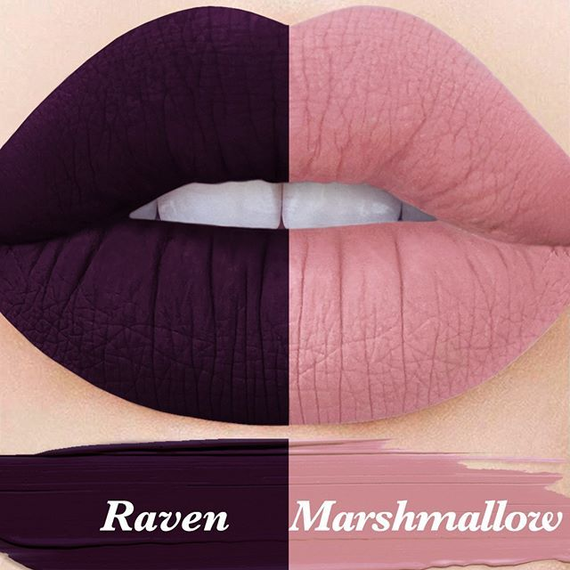 We're LIVE!!! 2 MOODS Velvetine Duo, featuring all-new shades 'Marshmallow' & 'Raven'! Head to limecrime.com to indulge in your unicorn-meets-darkness duality!                                                                                                                                                                                 More