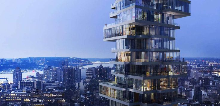"""Rendering to Reality: Herzog & de Meuron's """"Jenga Tower"""" Stacks Up in Manhattan - Architizer"""
