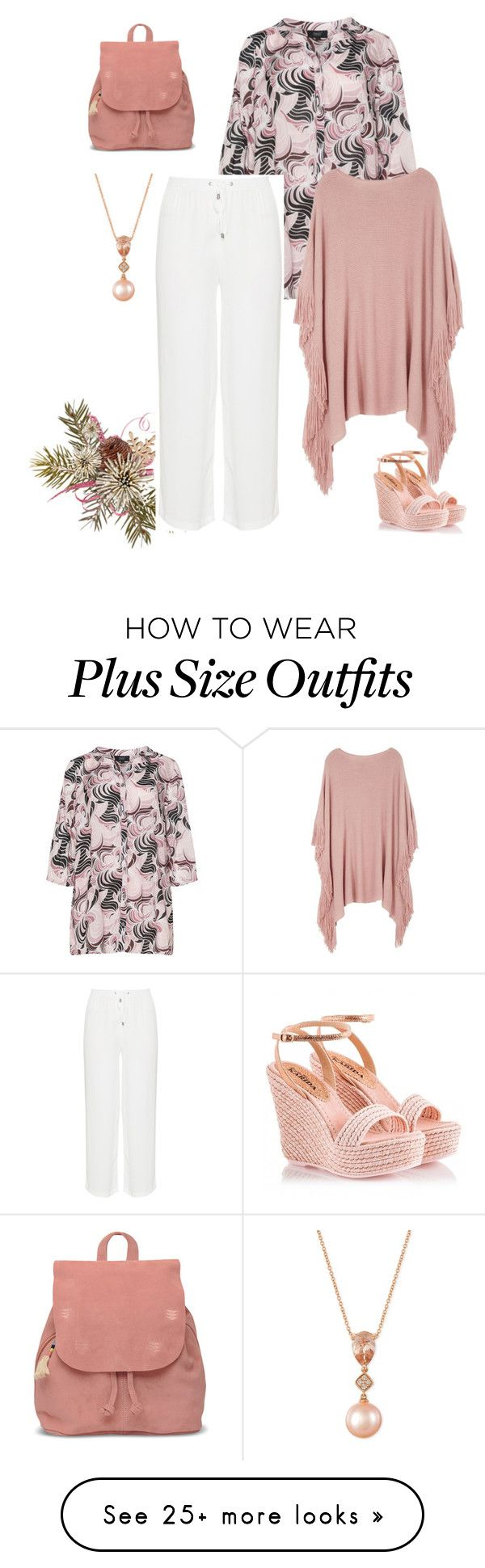 """plus size donna"" by aleger-1 on Polyvore featuring Zhenzi, Melissa McCarthy Seven7, Fratelli Karida, TOMS, LE VIAN and plus size clothing"