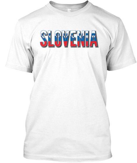 Slovenia flag font Tshirt