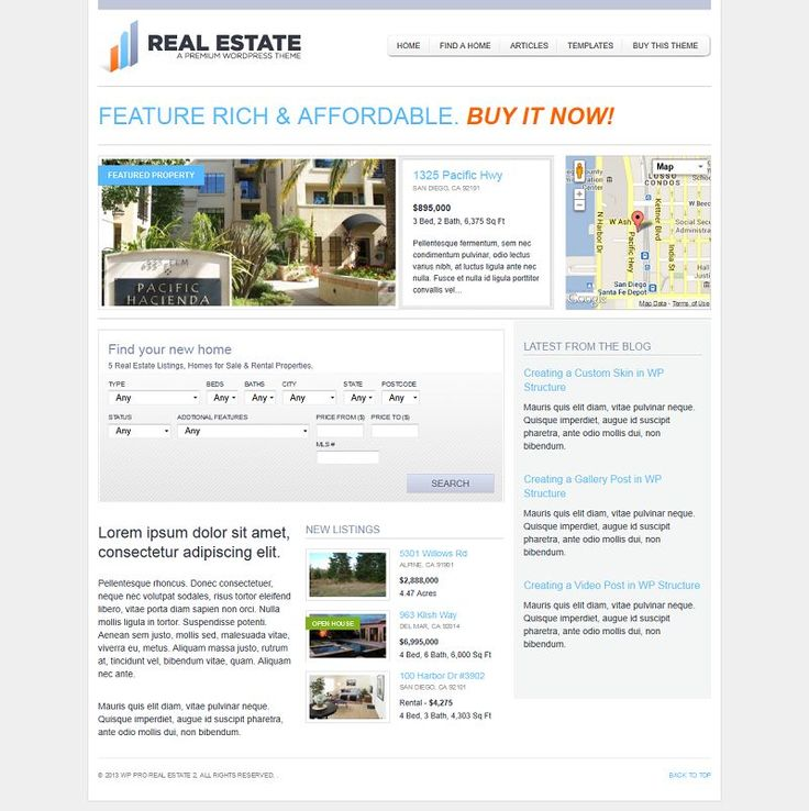 Hundreds of hours in development, WP Pro Real Estate 2 is the one of the most advanced and easy to use real estate theme for WordPress on Th...