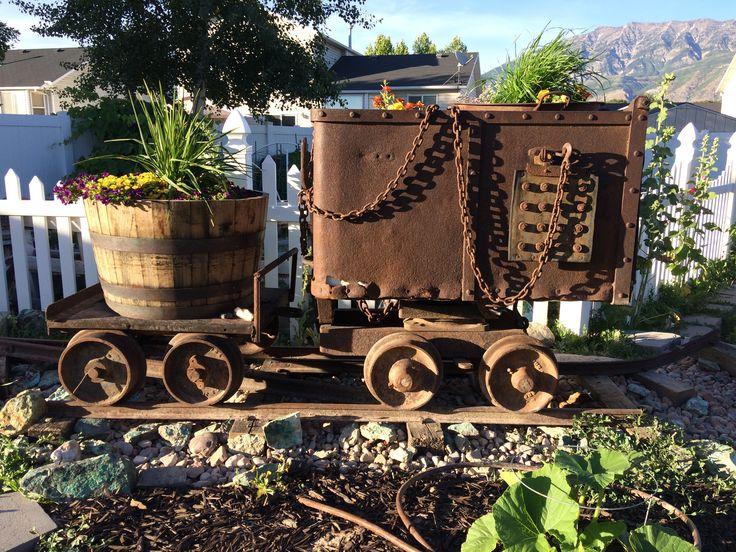 Garden mine cart project gardening garden diy home
