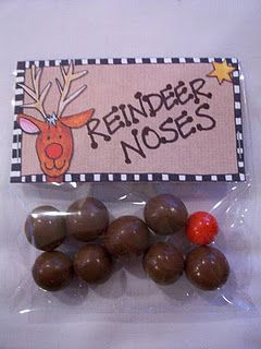 "Reindeer Noses - better than the glitter/oatmeal ""reindeer food"""