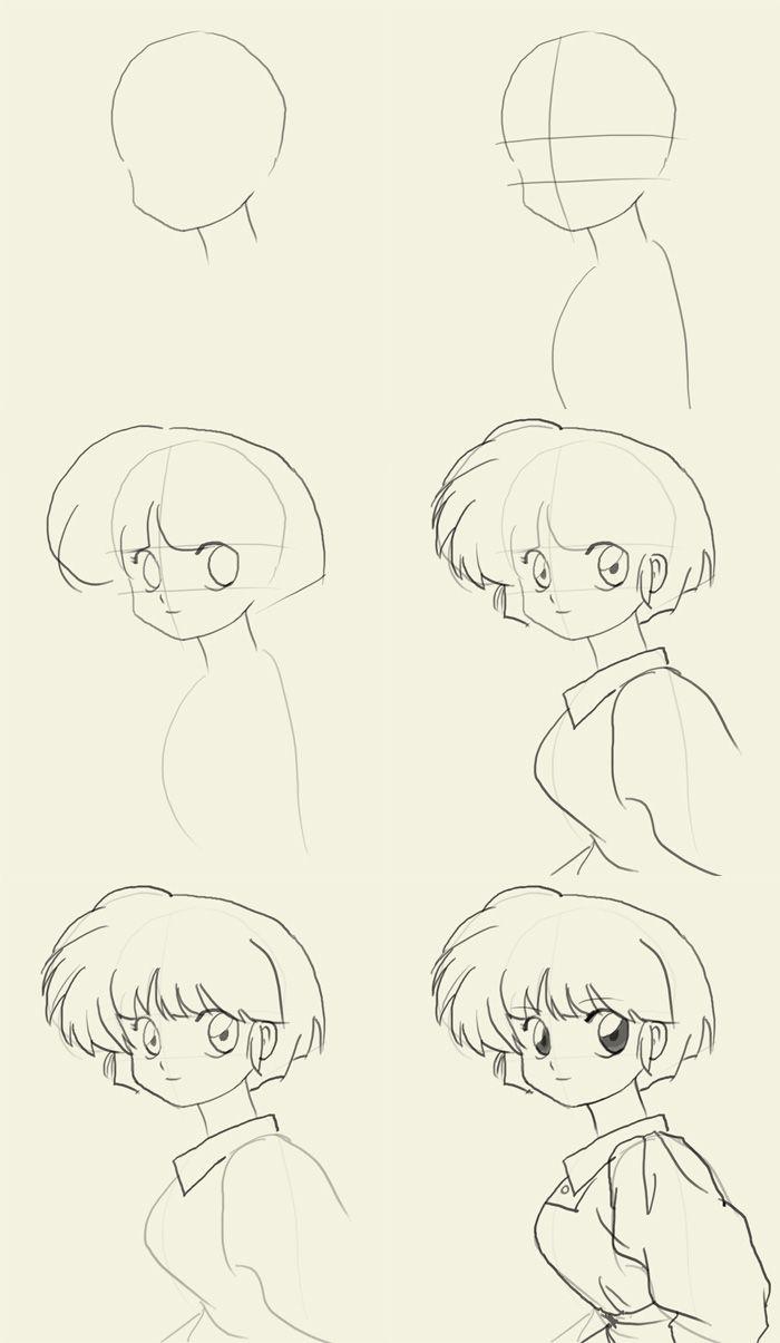 how to draw Manga Akane Tendo
