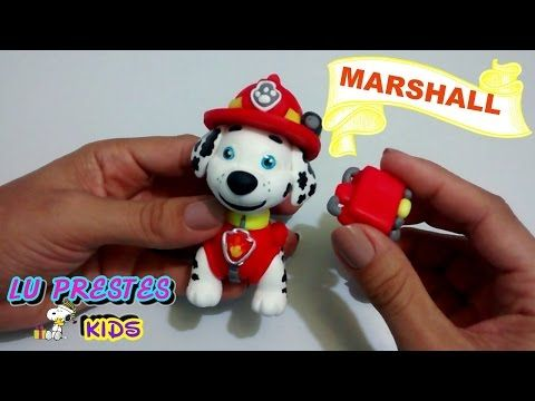 MARSHALL  PATRULHA CANINA (TUTORIAL- BISCUIT- PORCELANA-FRIA ) - YouTube