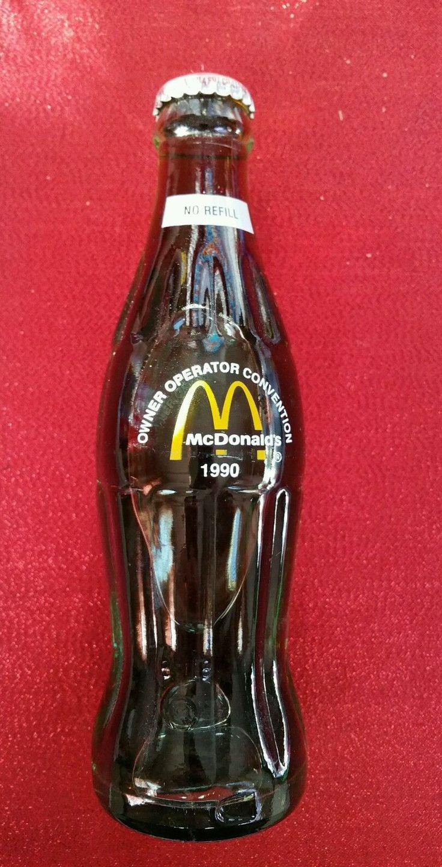 1990 Coca Cola Bottle Mcdonald's Owner / Operator Convention