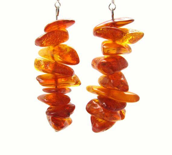 Amber earrings Amber jewelry earrings by RussianTreasureHouse