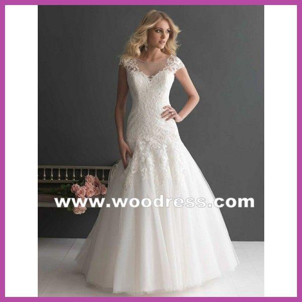 een chique v-vormige zeemeermin gown kant bruiloft] jurken [ stijl 2656