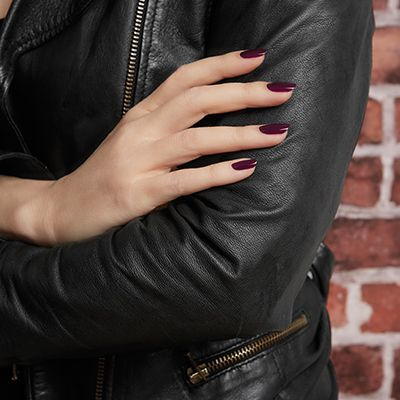 An essie mani that's dark and moody is a sinister sidekick to the perfect leather jacket.|| DBP, Toluene and Formaldehyde free. || For the full essie range, head to: www.essie.com.au