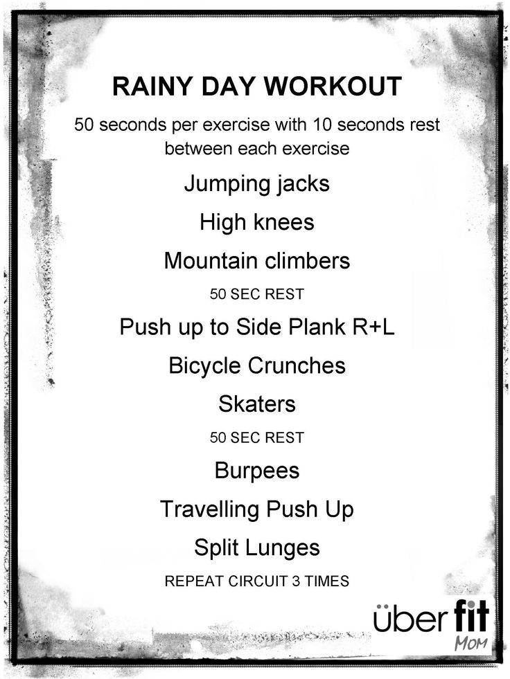 Rainy day workout