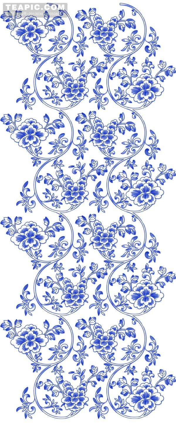 青花瓷花纹 | Blue & White Pattern
