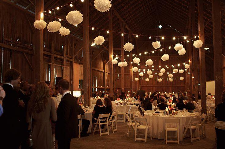 Pretty barn wedding decorations! // Nordica Photography