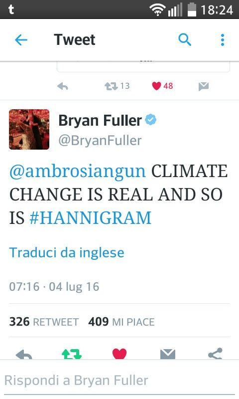 Climate change is real and so is Hannigram!
