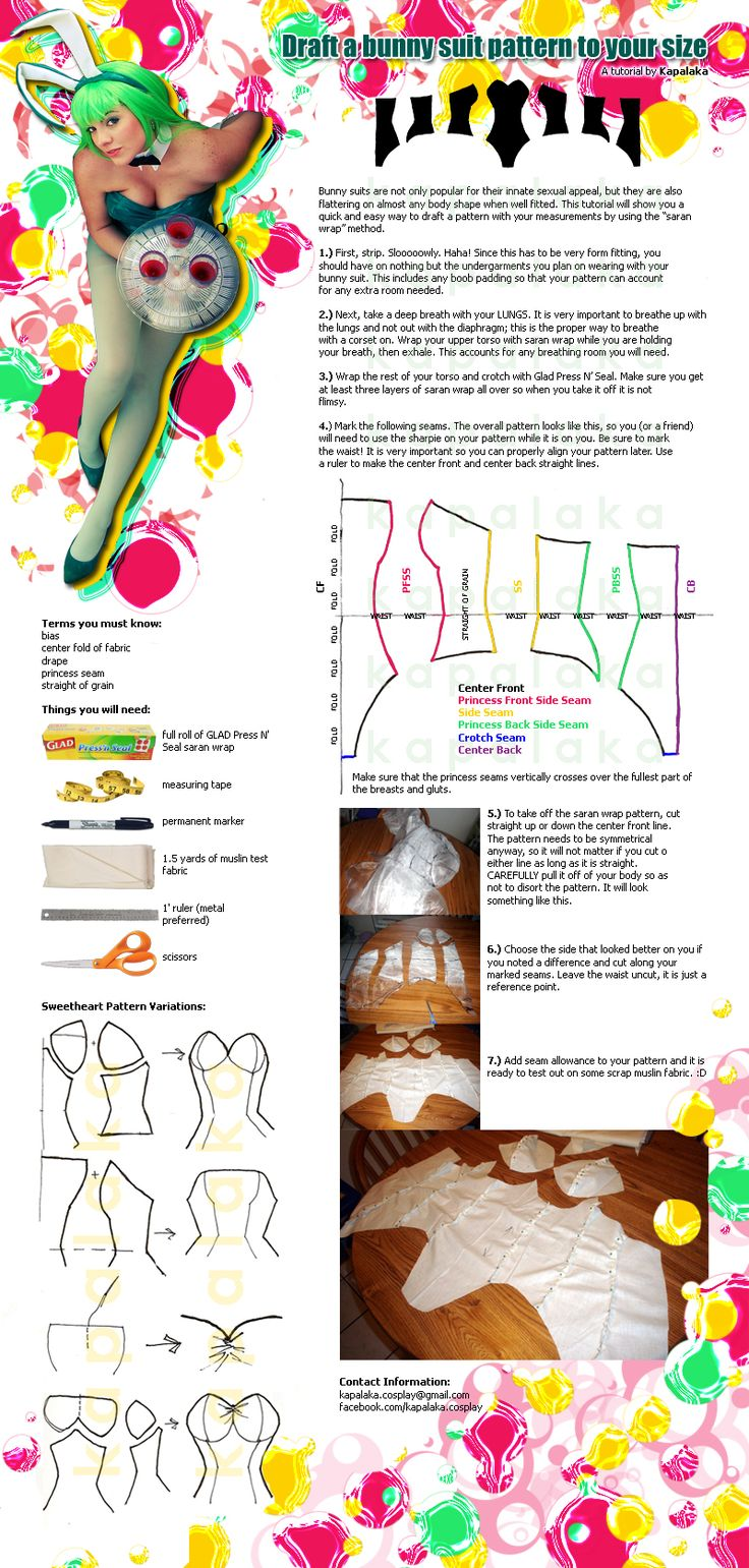 Bunny Suit Pattern Tutorial by *Kapalaka on deviantART