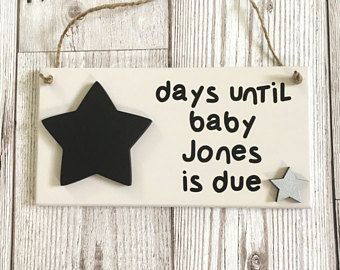 Baby Countdown Plaque ~ Pregnancy Gift ~ Pregnancy Countdown ~ Baby Countdown Sign ~ Baby Shower ~ Wall Art & Home Decor