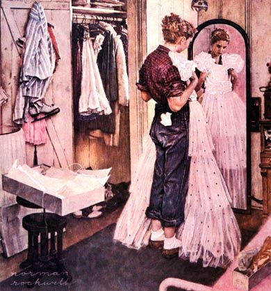 Norman RockwellArtists, Wedding Dressses, Artnorman Rockwell, Art Norman Rockwell, Prom Dresses, Prints, Favorite, The Dresses, Normanrockwel