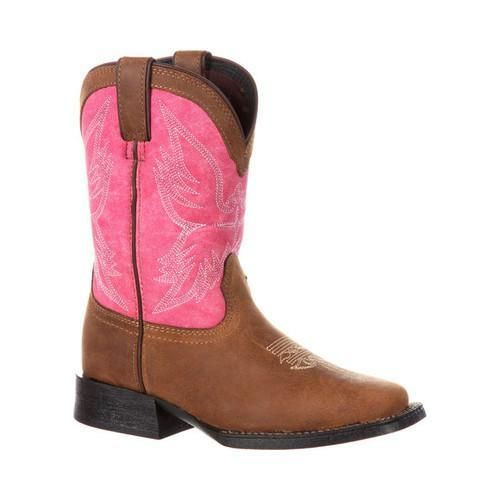 Children's Durango Boot DBT0167 Lil' Mustang 8in Little Kid Western Boot /Pink Full Grain