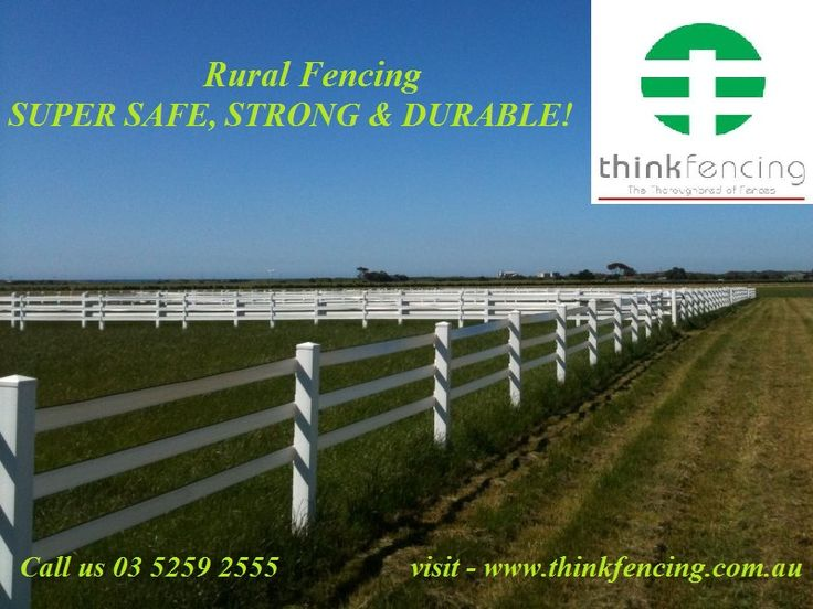 Think #Fencing based on the most excellent #Farm #fencing manufacturer in #Australia & surrounding  the area. Think #Fencing supplies #PVC #fencing for all your fencing needs from #homes to #horses.