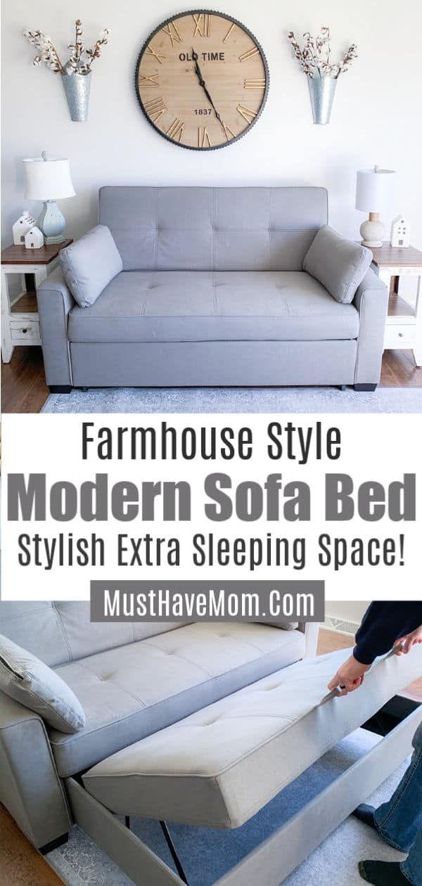 Modern Sofa Bed Works Great As Farmhouse Sofa Queen Sofa Sleeper