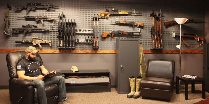 Versatile gun racks and gun safes by SecureIt. #firearmstorage