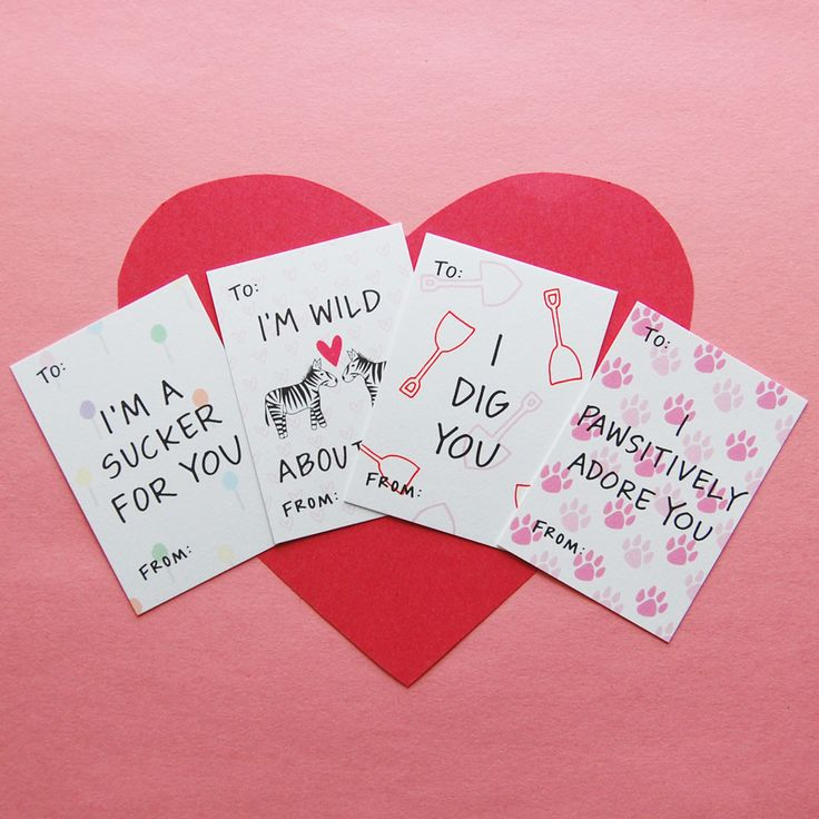 Sweet Sayings Mini Valentine's Day Assorted Card Pack by Happy Cactus Designs // Pack of 10 Cards // All designs are copyright Happy Cactus Designs