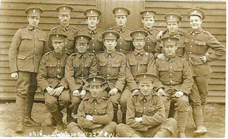 Gwynedd Battalion 22nd RWF Trg Unit Kinmel Camp